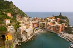 vernazza Италии Стоковые Изображения RF