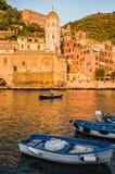 Vernazza Италия Стоковая Фотография