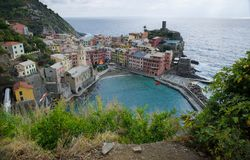 Vernazza From Above on the Azure Trail stock photos