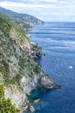 Vernazza aerial view, Cinque Terre, Italy Stock Images