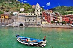 Vernazza - aldeia piscatória Imagens de Stock