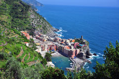 Vernazza beautiful view Stock Image
