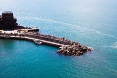 Vernazza breakwater, Cinque terre, Liguria, Italy, Europe. Stock Image