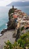 Vernazza Buildings and Beach Stock Photos