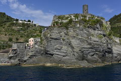 Vernazza, Castello (=Castle) Doria, Cinque Terre, Italien Lizenzfreie Stockfotos