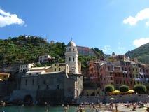 Vernazza church - Italy Royalty Free Stock Photo