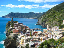 Vernazza Cinque Terra Italy. The small fishing village Vernazza is probably the most characteristic of the Cinque Terre and is classified as one of the most Stock Photography