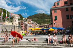 Vernazza, Cinque Terre, Τοσκάνη Στοκ φωτογραφία με δικαίωμα ελεύθερης χρήσης