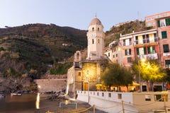 Vernazza в Cinque Terre Стоковое Изображение