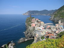 Vernazza, cinque terre. Town of vernazza in the cinque terre, italy Stock Photography