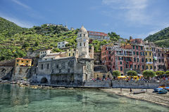 Vernazza cinque terre houses Royalty Free Stock Photo