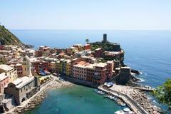 Vernazza, Cinque Terre, Italië Stock Foto's