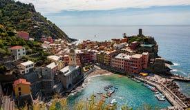 Vernazza Cinque Terre - Italië stock afbeeldingen