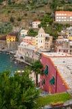 Vernazza in Cinque Terre, Italia immagini stock