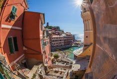 Vernazza, Cinque Terre, Italia I Fotografie Stock Libere da Diritti