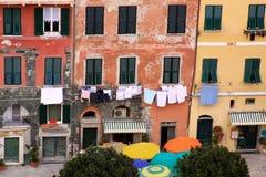 Vernazza, Cinque Terre, Italie - vue des bâtiments Photographie stock