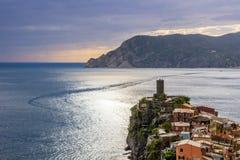Vernazza in Cinque Terre in Italien lizenzfreie stockfotografie
