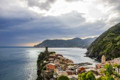 Vernazza in Cinque Terre in Italien stockfotografie