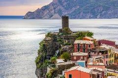 Vernazza in Cinque Terre in Italien lizenzfreies stockbild