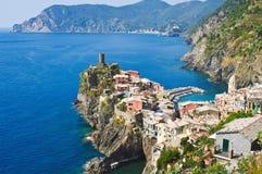 Vernazza Cinque Terre Italien stockbild