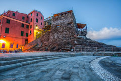 Vernazza Cinque Terre, Italien - gammal Fort II Royaltyfri Fotografi