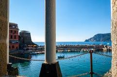 Vernazza in Cinque Terre, Italien lizenzfreies stockbild
