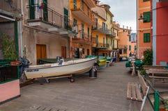 Vernazza in Cinque Terre, Italien lizenzfreie stockbilder