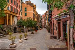 Vernazza in Cinque Terre, Italien lizenzfreie stockfotografie