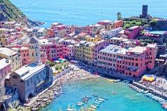 Vernazza, Cinque Terre, Itally Stock Afbeelding
