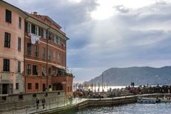 Vernazza in Cinque Terre in Italy royalty free stock images