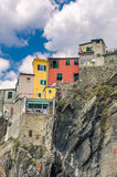 Vernazza Cinque Terre Italy. Houses on a cliff in Vernazza - Cinque Terre, Italy royalty free stock photo