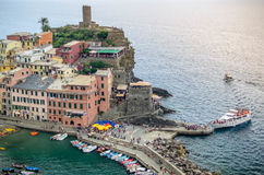 Vernazza Cinque Terre Italy. Houses on a cliff in Vernazza - Cinque Terre, Italy Royalty Free Stock Photos