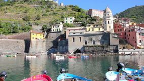 Vernazza in Cinque Terre, Italy stock video