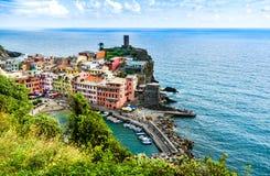 Vernazza, Cinque Terre, Italy royalty free stock photos