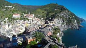 Vernazza in Cinque Terre, Italy stock footage