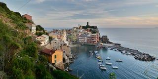 Vernazza Cinque terre LaSpezia landskap Liguria italy Royaltyfri Fotografi