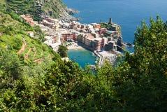 Vernazza, Cinque Terre, Ligurië, Italië Stock Afbeeldingen