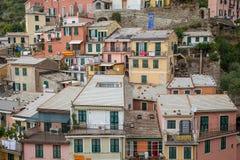 Vernazza, Cinque Terre, Ligurien, Italien Lizenzfreies Stockfoto