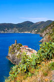 Vernazza in Cinque Terre National Park on Italian Riviera Royalty Free Stock Photos