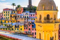 Vernazza, Cinque Terre park narodowy, Liguria, Włochy Fotografia Royalty Free