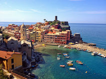Vernazza, Cinque Terre. Picture of Vernazza, one of the Cinque Terre villages in La Spezia, Liguria, Italy Stock Photos