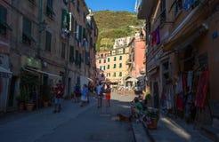 Vernazza, Cinque Terre, province de Spezia de La, côte ligurienne, Italie image libre de droits