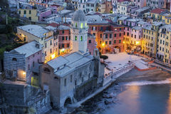 Vernazza in Cinque Terre region in Italy Stock Images