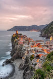 Vernazza on the Cinque Terre Stock Photography