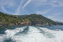 Vernazza cinque terre view from ferry Stock Image