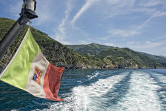 Vernazza cinque terre view from ferry Stock Photography