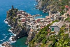 Vernazza, Cinque Terre, Włochy obrazy royalty free