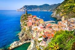Vernazza Cinque Terre, Włochy, - Zdjęcie Royalty Free