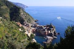 Vernazza, Cinque Terre, Włochy - widok 02 Zdjęcia Royalty Free