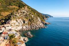 Vernazza dans Cinque Terre, Italie images libres de droits